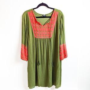 ANA Embroidered Tunic Dress
